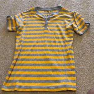 Knit striped shirt